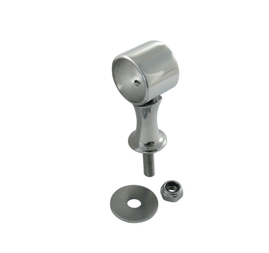 Hand rail centre fitting with thread, 25mm / stainless steel A4