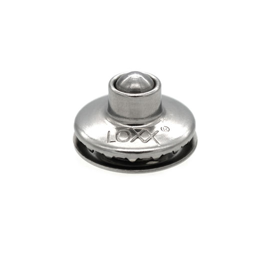 "Loxx knob ""Anti-Theft, stainless steel / brass nickel plated"