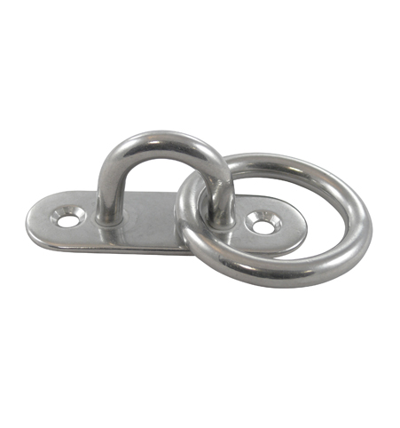 Pad eye with ring 100mm stainless steel A2